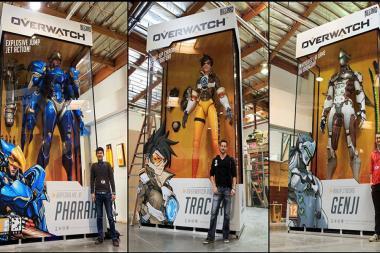 פסלי ענק של דמויות Overwatch נחשפו ברחבי העולם