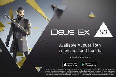 Deus Ex GO מגיע למובייל ב-18 לאוגוסט