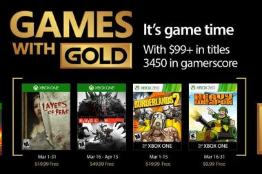 Games With Gold - נחשפו המשחקים של חודש מרץ