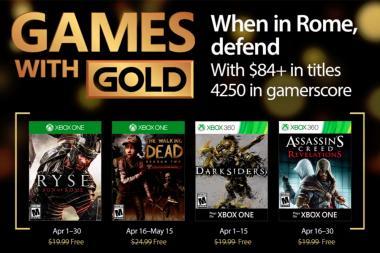 Games With Gold - נחשפו המשחקים של חודש אפריל