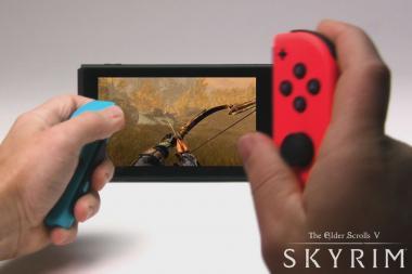 צפו בסרטון משחקיות ראשון של Skyrim על ה-Nintendo Switch