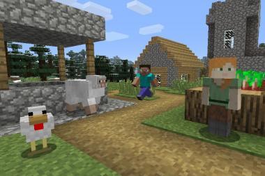 פא'ץ חדש משפר את הרזולוציה של Minecraft במצב עגינה של Nintendo Switch