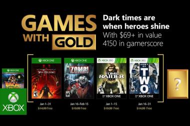 נחשפו כותרי ה-Games with Gold של Xbox לחודש ינואר