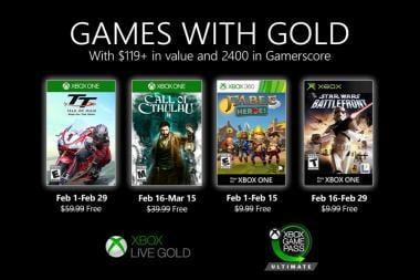 נחשפו המשחקים החינמיים לחודש פברואר במסגרת השירות Games With Gold