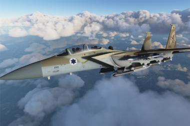 טסו ב-F15 של חיל האוויר ב-Flight Simulator 2020
