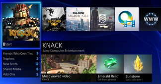 ככה נראה ממשק המשתמש של ה-PS4